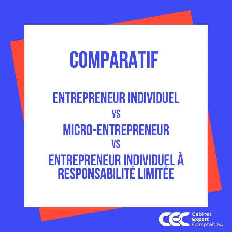 Comparatif Entrepreneur Individuel VS Micro Entrepreneur VS EIRL