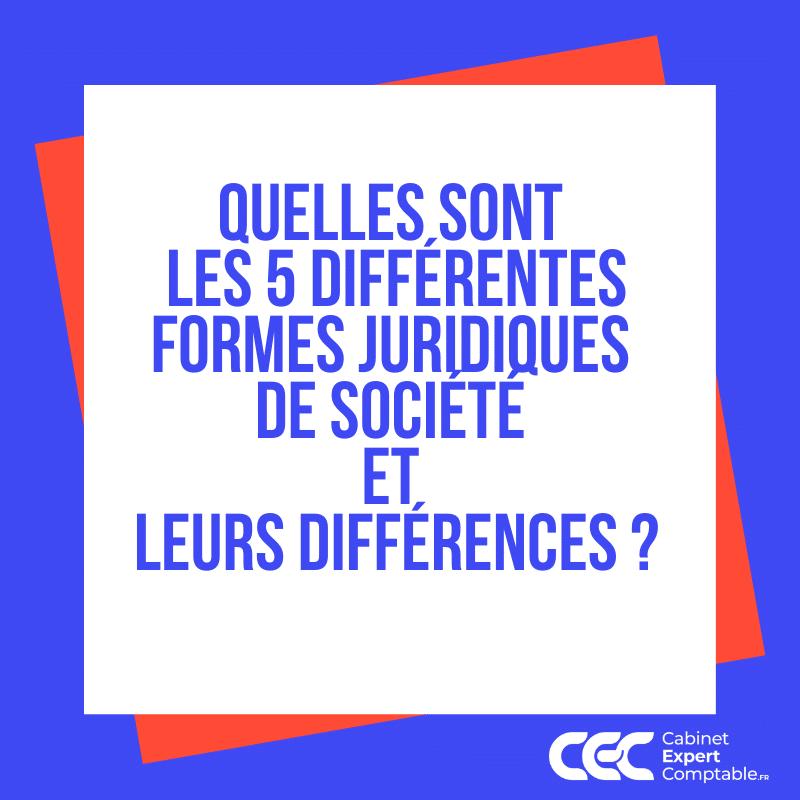 Quelles sont les 5 différentes formes juridiques de société et leurs différences