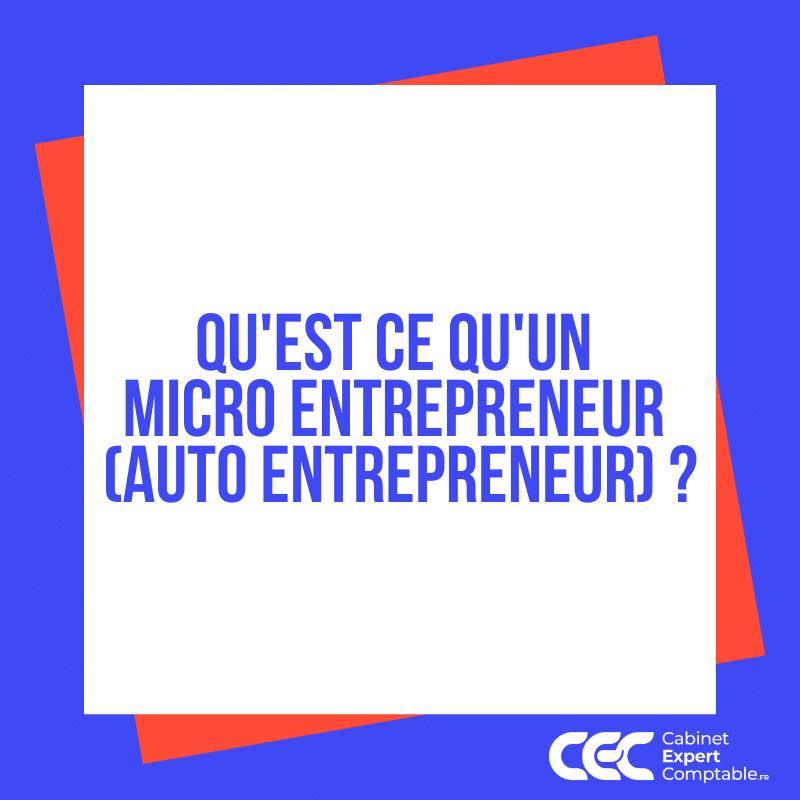 Quest ce quun micro entrepreneur auto entrepreneur